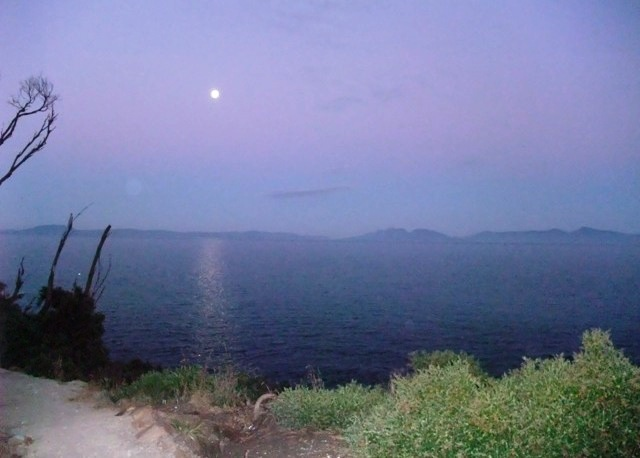 Moonlight over the Freycinet