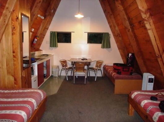 Inside Makarora Cabin