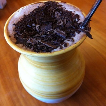 Hot Chocolate in Aztec Drinking Pot
