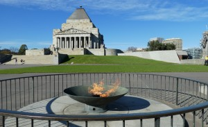 The Shrine with the Eternal Flame in the Forecourt