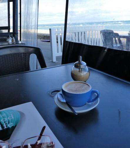Morning coffee at Edithvale beach