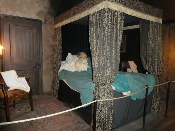 The bedroom where Cromwell died. They say there's a ghost here.