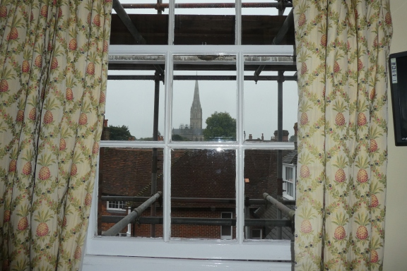 View from my broom cupboard window