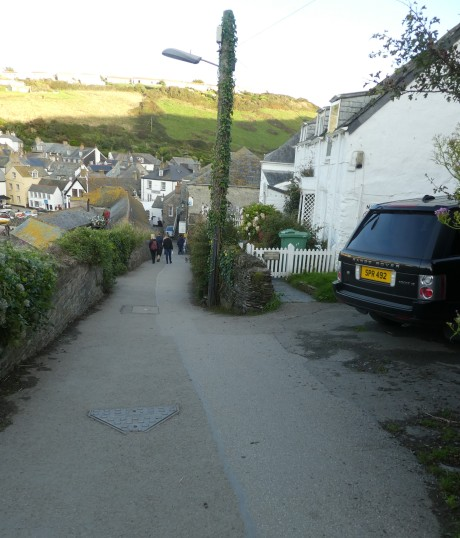 The steep hill up to the Doc's surgery